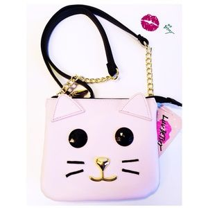 Betsey Johnson Crossbody Cat Mini Bag Purse NWT